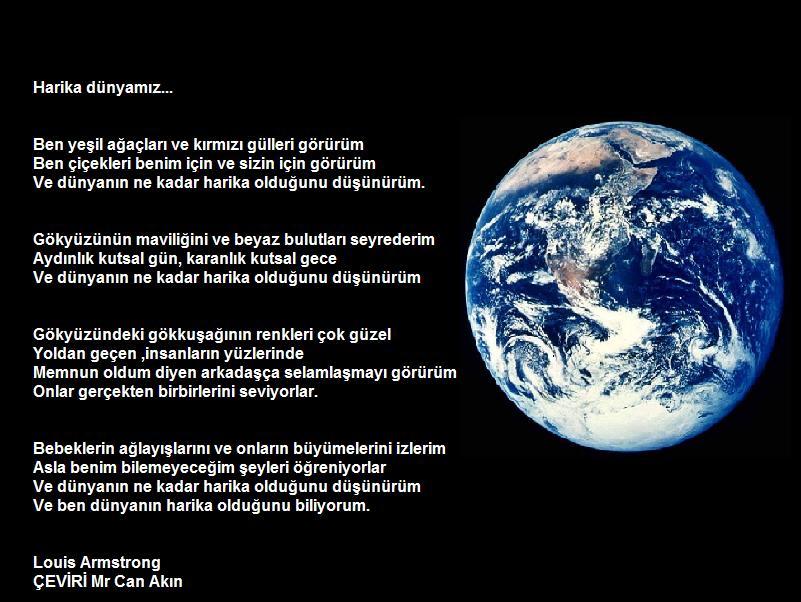 �evirim, �ngilizce - T�rk�e - Louis Armstrong - What A Wonderful World, Harika d�nyam�z - D�nyada En �ok Sevilen Jazz �ark�s�n�n �iiri
